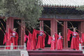 Dacheng rites music performance at temple of confucius in beijing china it intends to enlighten people and convey the artistic Royalty Free Stock Image