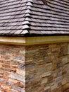Dachowa łupkowa kamienna ściana Zdjęcia Stock
