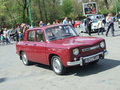 Dacia car renault at spring retro parade in bucharest romania Stock Photos