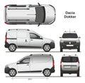 Dacia Dokker Van 2013 Royalty Free Stock Photo