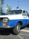 Dacia militia renault car at spring retro parade in bucharest romania Royalty Free Stock Photos