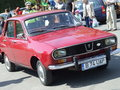 Dacia renault car at spring retro parade in bucharest romania Stock Photos