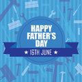 Dad icon happy daddy day on special blue background Royalty Free Stock Photo