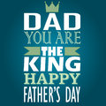 Dad you are the king happy afthers day vector best choice tag collection Royalty Free Stock Photography