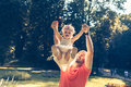 Daddy and daughter playing Royalty Free Stock Photo