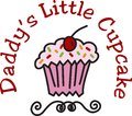 Daddy s little cup cake everyone loves cupcakes perfect idea for birthday favors they will love this cute design topped with Stock Photo