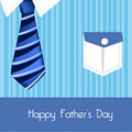 Daddy shirt and tie color blue vector illustration Stock Photo