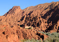 Dades valley morocco ouarzazate district boumaln also known as of the roses kasbah surrounded by dramatical rock Stock Images