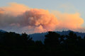Dads creek fire smoke comes from the part of the douglas complex fires near glendale oregon Royalty Free Stock Photos