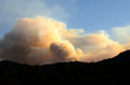 Dads creek fire smoke comes from the part of the douglas complex fires near glendale oregon Stock Photos