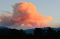 Dads creek smoke comes from the fire part of the douglas complex fires near glendale oregon on july Stock Photography