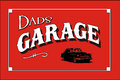 Dads garage poster sign art Royalty Free Stock Photos