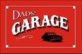 Dads garage poster sign art Royalty Free Stock Photos