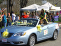 Daffodil priincess christine riddett gloucester virginia in the parade on april in gloucester virginia in its th year the Royalty Free Stock Photos