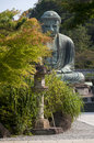 Daibutsu or budha amida in kotokuin temple japan Stock Image