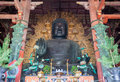 Daibutsu in the Daibutsu-den at Todaiji Temple Royalty Free Stock Photo