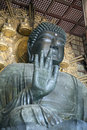 Daibutsu in the Daibutsu-den at Todaiji Temple. Royalty Free Stock Photo