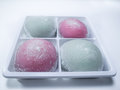 Daifuku a pack of japanese sweet dessert Stock Images