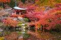 Daigoji temple in maple trees, momiji season, Kyoto, Japan Royalty Free Stock Photo