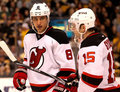 Dainius Zubrus and Petr Sykora New Jersey Devils Royalty Free Stock Images