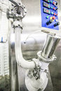 Dairy new factory equipment Royalty Free Stock Photo