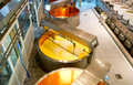 Dairy plant in switzerland interior of a cheese factory with modern equipment Stock Photo