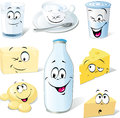Dairy product cartoon Stock Photo