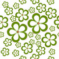 Daisy Floral Seamless Pattern Stock Photo