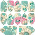 Daisy Polka Dots Paper Flower Button Gift Tags Royalty Free Stock Image