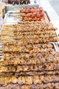 Dakkochi Chicken Skewers Royalty Free Stock Photo