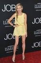 Dakota gal los angeles ca august at the los angeles premiere of jobs at the regal cinemas la live Stock Image