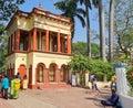 The house of Sarada Nahabat inside  Dakshineshwar Goddess Kali temple in Kolkata India where Sri Ramakrishna worked as a priest. Royalty Free Stock Photo