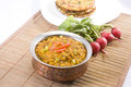 Dal with makki ki roti indian food Stock Image