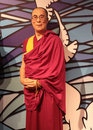 Dalai lama wax statue at madame tussauds in london Stock Photo