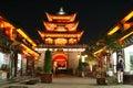 Dali Old City Gate At Night Stock Photos