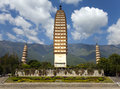 Dali three pagodas the ancient monument in yunnan province china Stock Photo