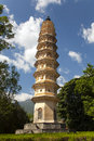 Dali three pagodas one of the smaller of the ancient monument in yunnan province china Royalty Free Stock Images