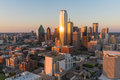 Dallas City Skyline Sunset Royalty Free Stock Photo