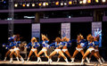 Dallas Cowboys Cheerleaders Perform Royalty Free Stock Images