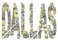 Dallas dollars grunge text Stock Photography