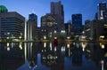 Downtown Dallas at night Royalty Free Stock Photo