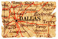 Dallas old map Royalty Free Stock Photo