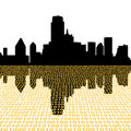 Dallas skyline with binary Royalty Free Stock Photos