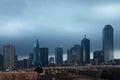 The Dallas skyline at dusk Royalty Free Stock Photo