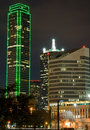 Dallas Skyline (night) Stock Photography