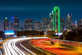 Dallas skyline by night Royalty Free Stock Photo
