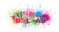 Dallas Skyline Paint Splatter Color Vector Illustration Royalty Free Stock Photo