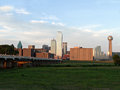 Dallas texas skyline a view of downtown fro the overlook point Royalty Free Stock Photos