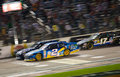 DALLAS, TX - NOVEMBER 04: Brad Keselowski 2 and Jimmie Johnson a Royalty Free Stock Images