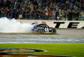 DALLAS, TX - NOVEMBER 04: Jimmie Johnson 48 does a burnnout afte Royalty Free Stock Photos